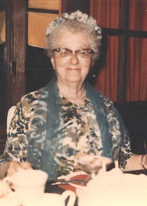 Inez  Kohler wearing a hat