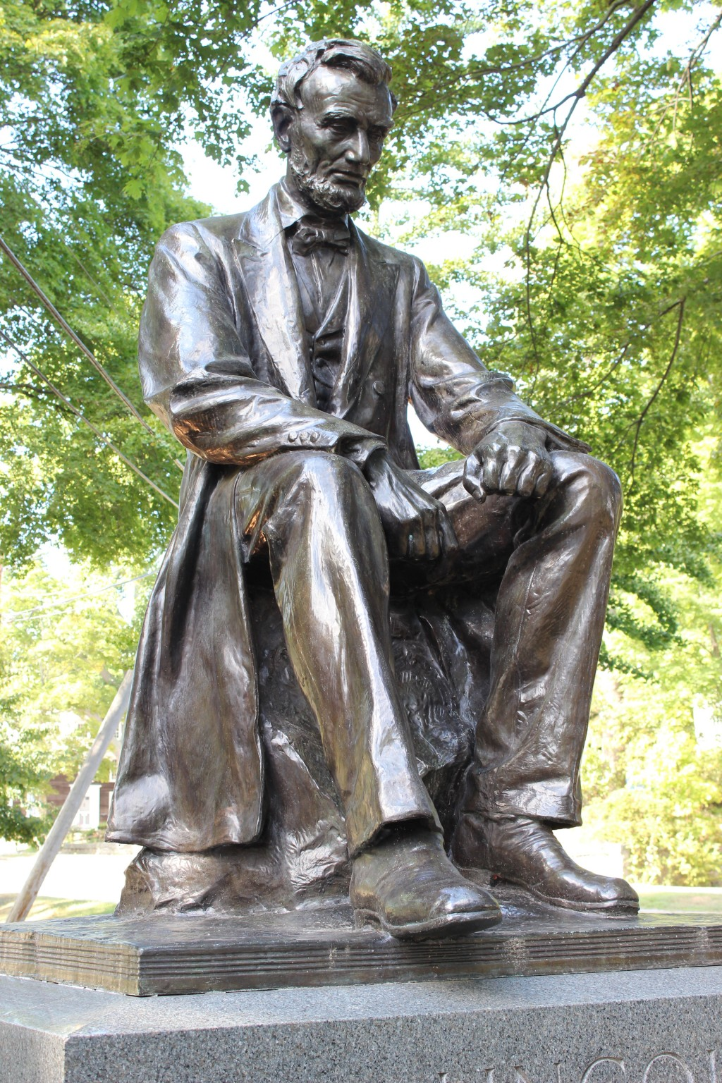 Abraham Lincoln Statue Closeup