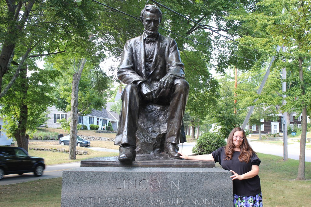 Abraham LIncoln Statue and Me in HIngham,Mass