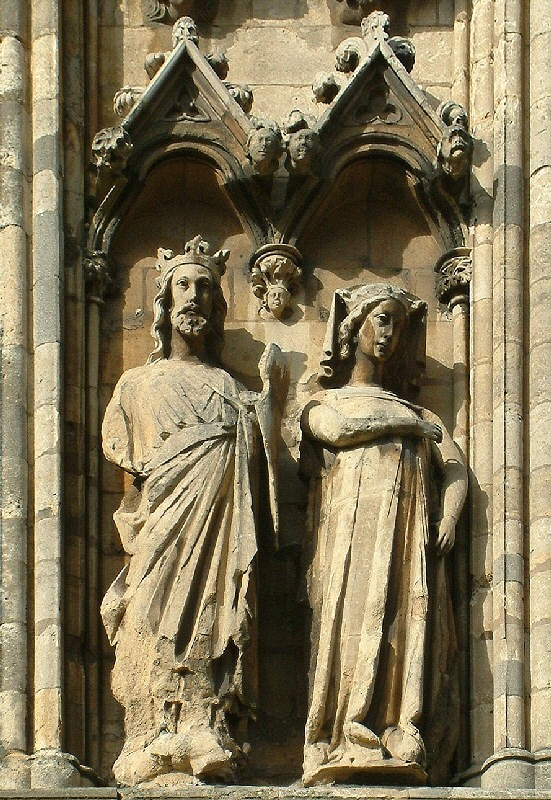 Edward I and Eleanor of Castile, Lincoln Cathedral. Von Lincolnian (Brian).